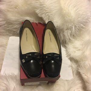 Ellen Tracy black patent loafers